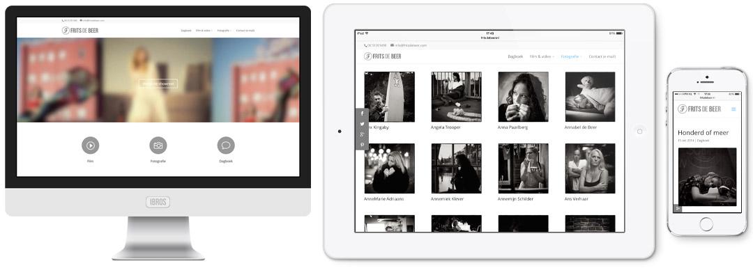 Fritsdebeer.nl op iMac, iPad en iPhone